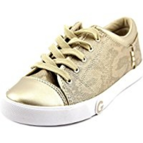 Guess Oona Sneakers Gold Lace 6m   Poshmark